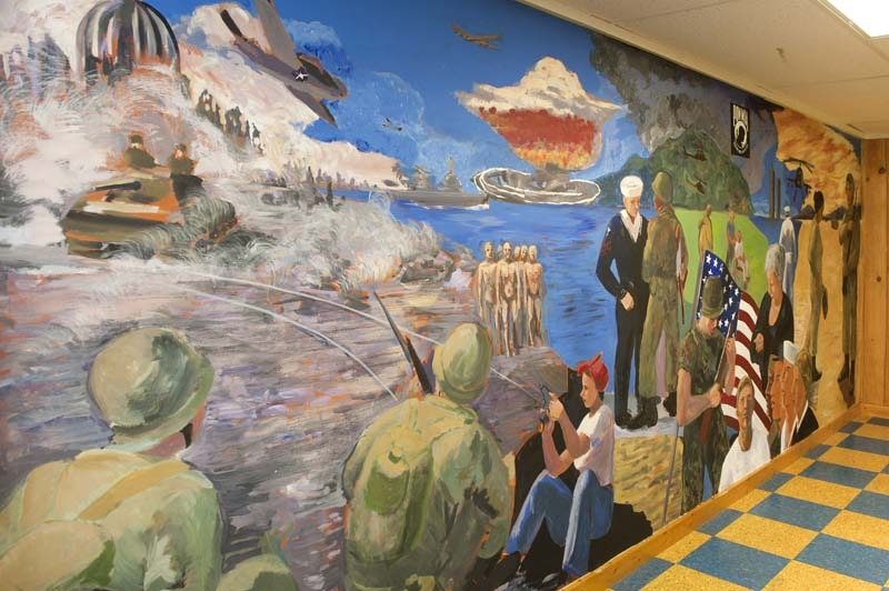 army wall mural